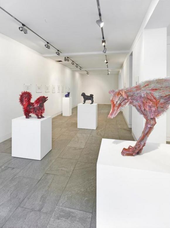 Marta Klonowska, Puszek und Freunde, Installationsansicht, 2013, Foto lorch+seid