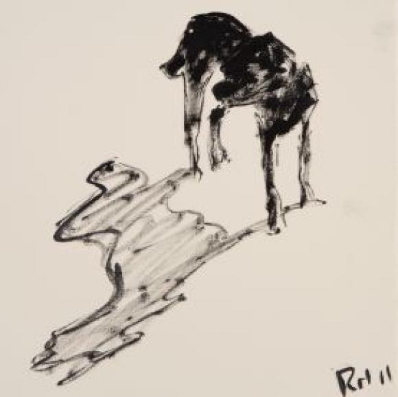 Rachel Howard, Dog and shadow, 2011
