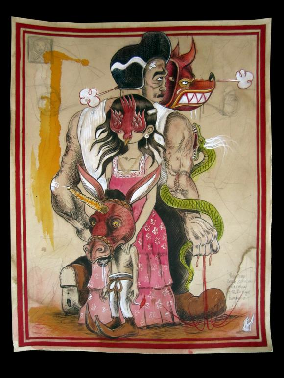Pelo Como Casco Corozon Inferno y el Burro Sigue Fumando © Raul Gonzalez III