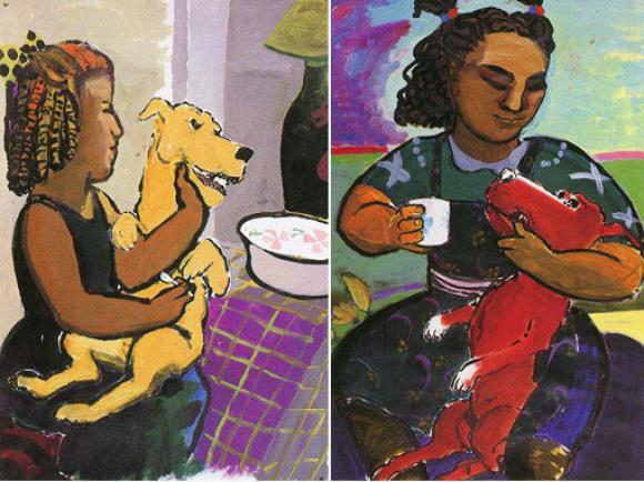 Dog and Girl - Serie @ Paula Rego