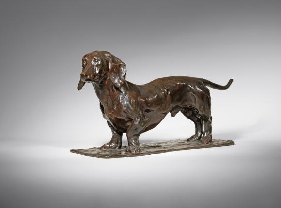 """Rembrandt Bugatti Dackel, """"mein Hund Wurst"""" (Basset, """"mon chien Wurst""""), um 1905"""