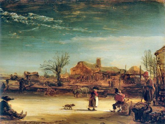 Rembrandt Harmenszoon van Rijn (1606-1669), Winterlandschaft, 1646