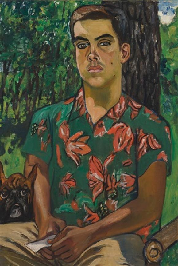 Alice Neel, Richard with Dog, 1954