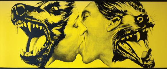 Robert Longo Strong in Love (Dog Kiss), 1983 Sammlung Klüser, München © Bildre