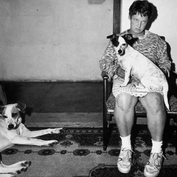 Roger Ballen, Platteland, Woman and Dogs, Orange Free State, 1994