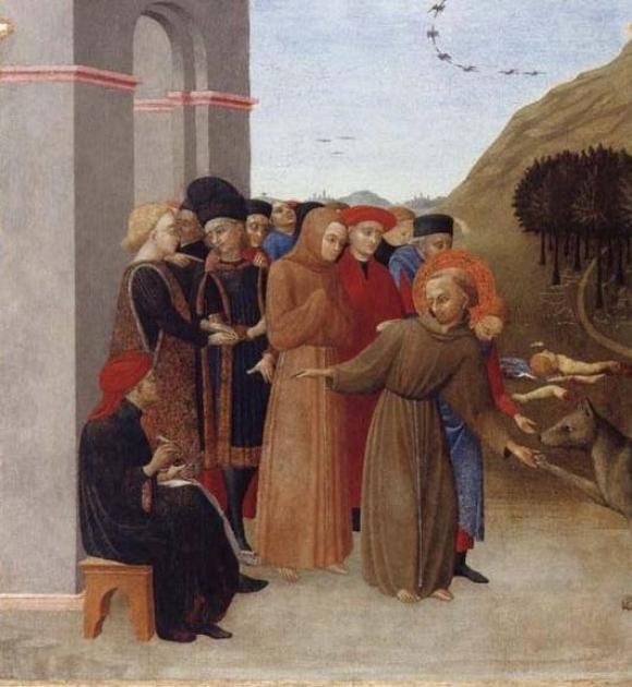 Il Sassetta: Altarbild des Flügelaltars des Hl. Franziskus, 1437-1444