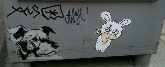 Schablonengraffiti 1