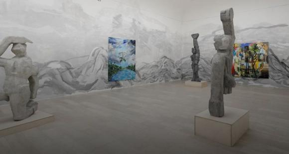 Ausstellungsansicht Djordje Ozbolt/Serbischer Pavillon