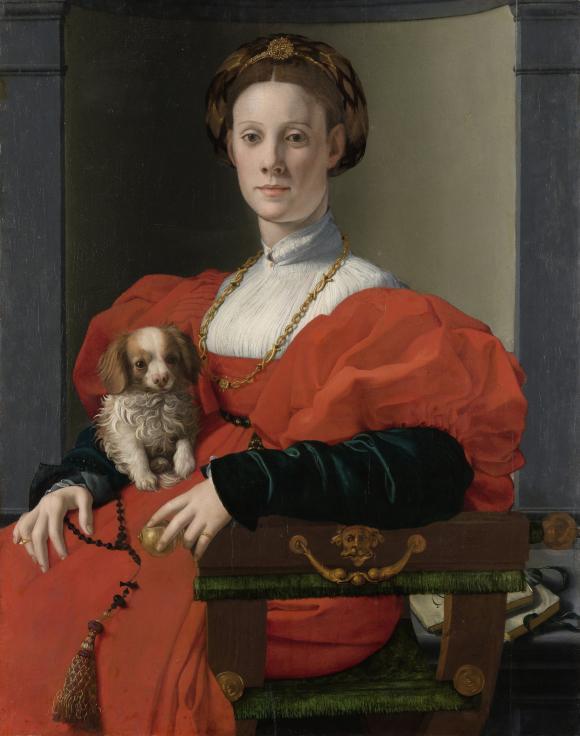 Agnolo Bronzino, Bildnis einer Dame in Rot, um 1533, Foto Städel Museum – ARTOTH