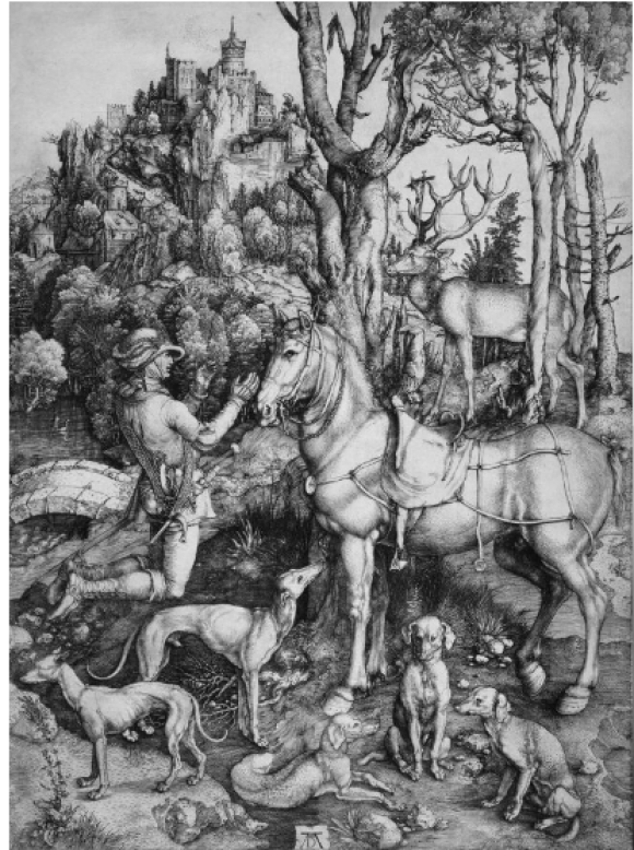 Albrecht Dürer,  Der heilige Eustachius, ca. 1501, Staedel Museum
