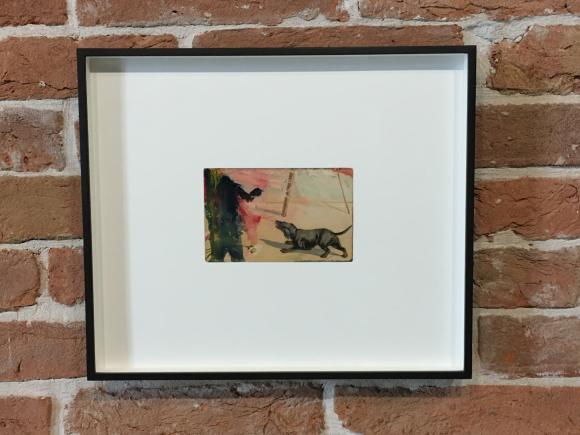 Tacita Dean, Found Postcard, Monoprint (Finger), 2018, Foto Petra Hartl