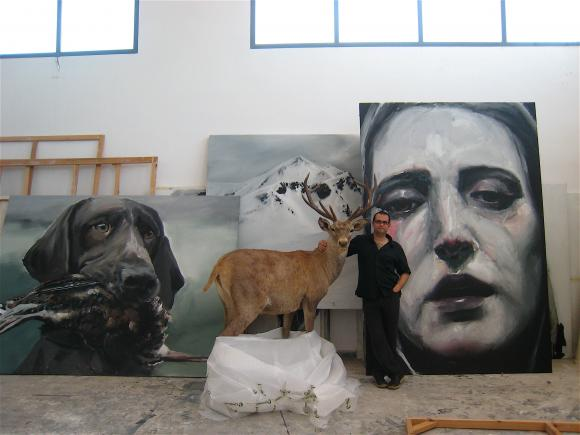 Atelieransicht Santiago Ydanez, 2010