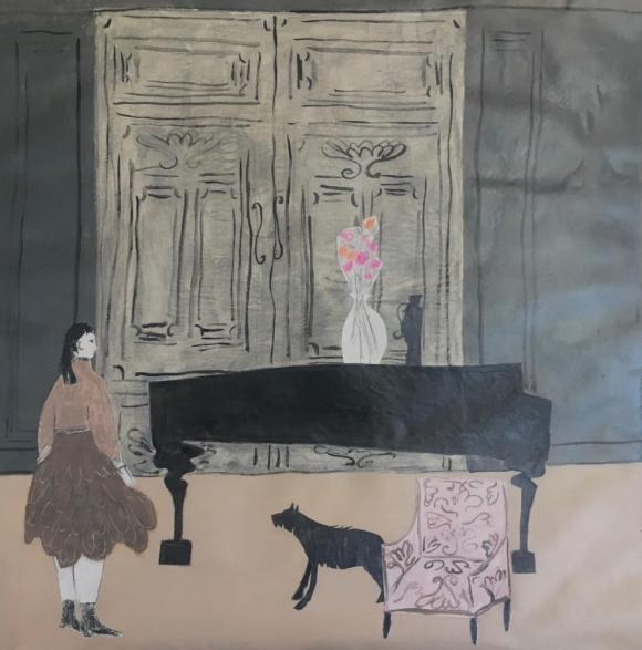 The Music Room with Studio Chair and Terrier © Gigi Mills