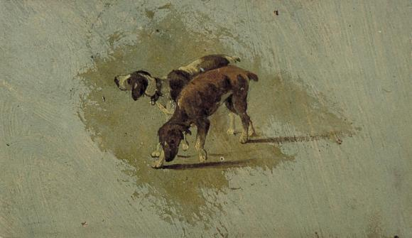 Theo van Doesberg: Zwei Hunde, 1899?
