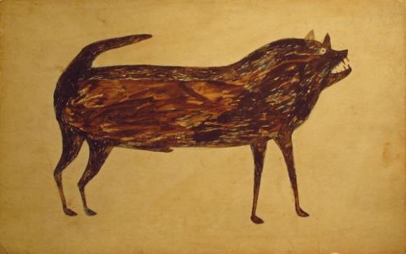Bill Traylor, Untitled (Brown Dog)