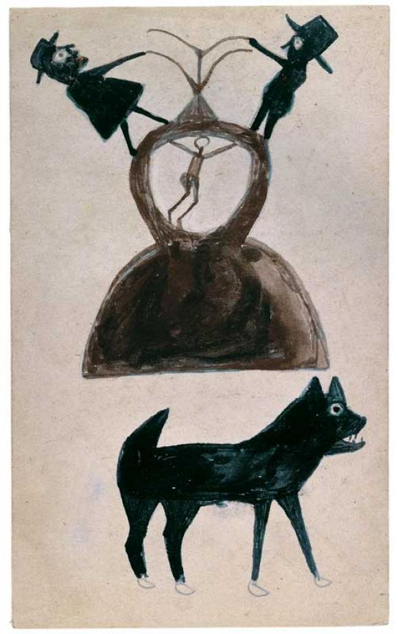 Bill Traylor, Untitled (Figures, Construction)