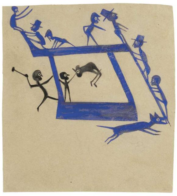Bill Traylor, Untitled (Figures, Constructions)