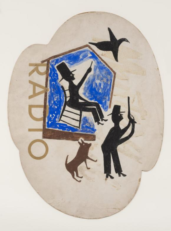 Bill Traylor, Untitled (Radio)