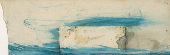 Victor Hugo Tache et essais de lavis; et lignes bleues, undatiert © Sammlung Klü