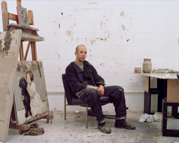 Gideon Rubin in seinem Atelier, London, 2011 Foto Ben Murphy