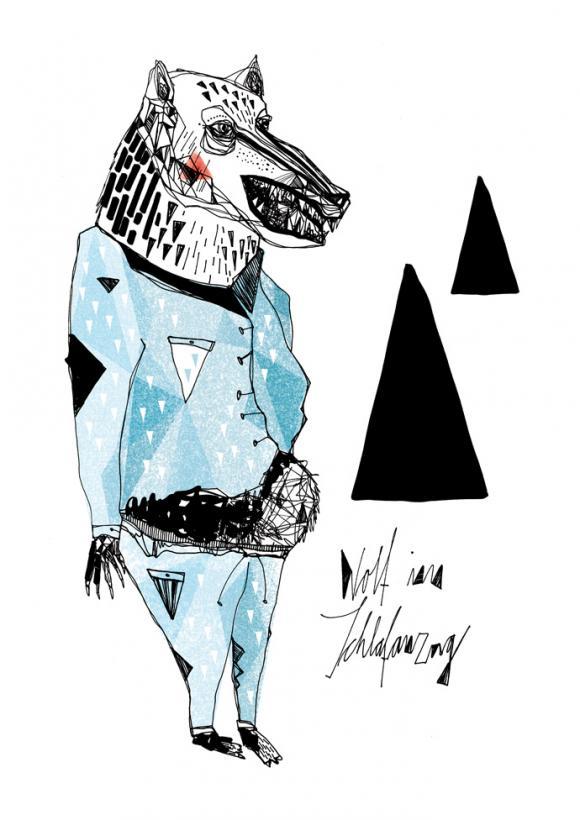 Wolf im Schlafanzug © Maria Fischer