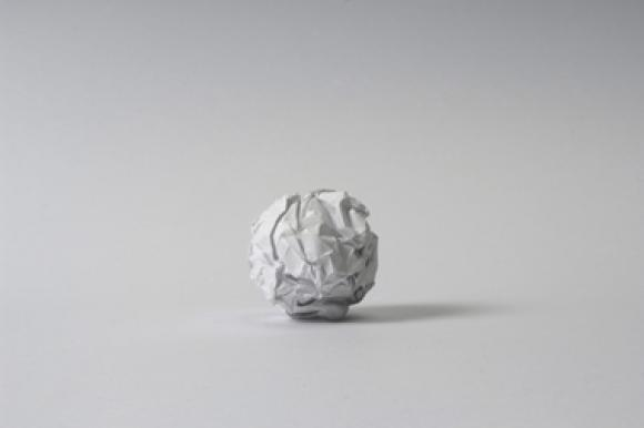 Martin Creed, Work No. 88, A sheet of A4 paper crumpled into a ball, 1995
